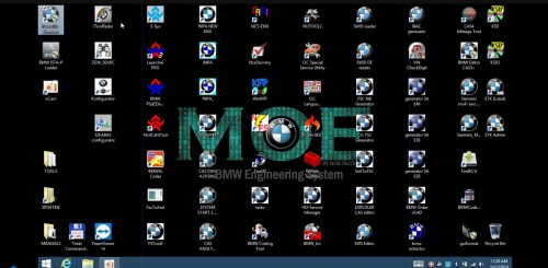 MOE BMW engineering system All Original BMW Software 500GB SSD with 1 Time Free Activation.