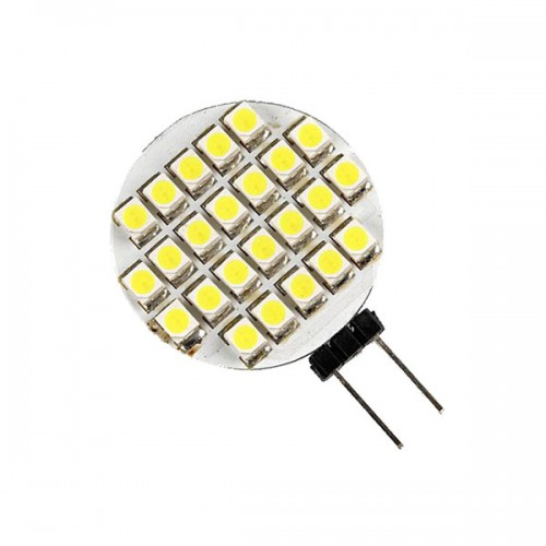 Warm White G4 24 SMD LED Lamp Light Car Bulb 12V AC 2pcs/lot