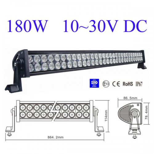 "New 33"" 180W Flood Spot Led Alloy Word Light Bar 4WD Boat UTE Driving Save"