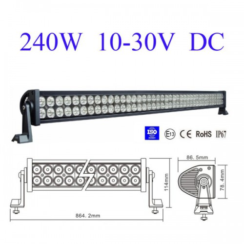 "42"" 240W Led Light Bar Work Light Flood & Sport Combo 4WD Boat UTE Driving Lamp"