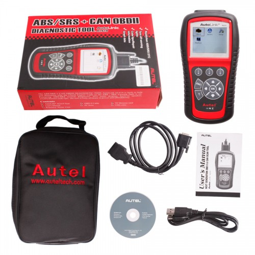 (Ship From US,No Tax)100% Original Autel Auto Link AL619 OBDII CAN ABS And SRS Scan Tool Update Online[ Ship from US/AU]