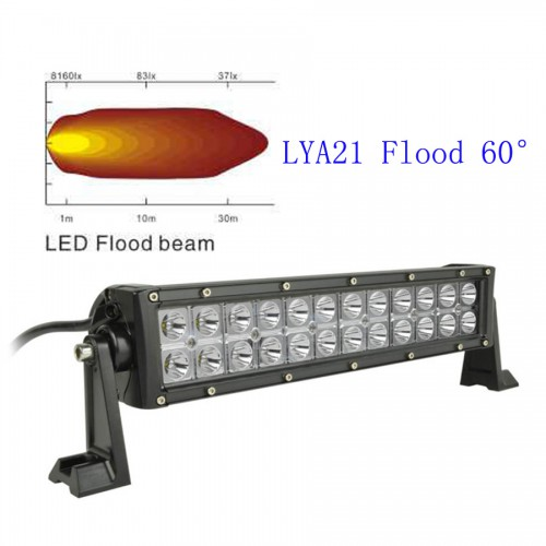 "13.5"" 72W CREE Led light bar 60 Degree FLOOD light Off Road Work Light 4wd Boat White"