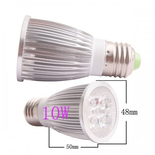 1100LM 10W E27 GU10 E14 GU5.3 LED Light Lamp Bulb AC85-265V 110V 220V Cool Warm White 5pcs/lot