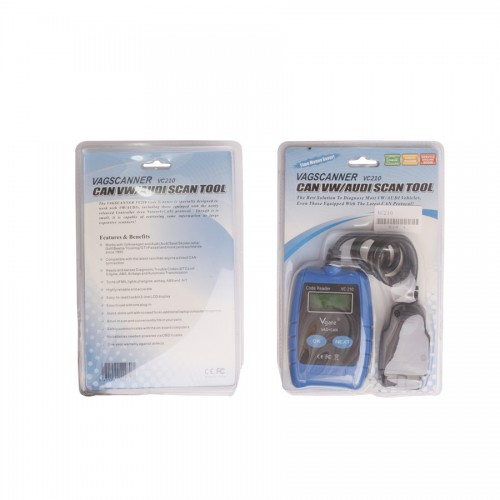 Auto Scanner VC210 OBD2 OBDII EOBD CAN Code Reader Diagnostic Tool for VW/AUDI