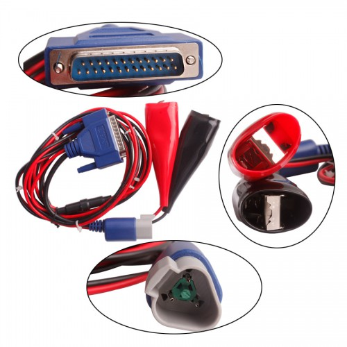 3pin Cable+Special Red and Black Big Clip for DEUTSCH work with DPA5 Scanner