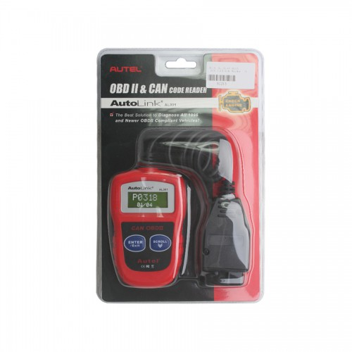 USA Free Shipping Original Autel AutoLink AL301OBDII/CAN Code Reader