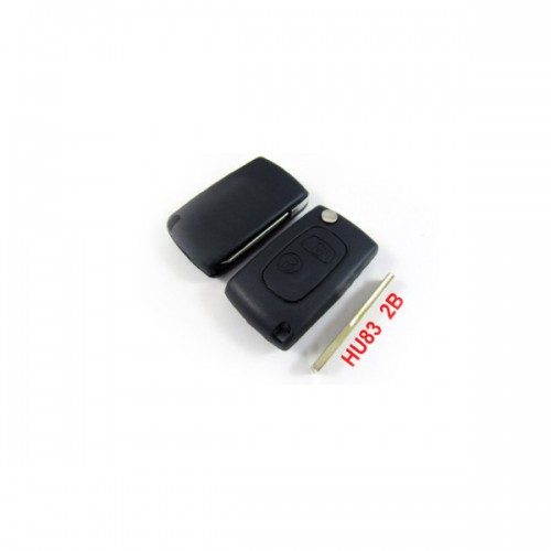 Buy Modified Flip Remote Key Shell 2 Button HU83 for Citroen 5pcs/lot