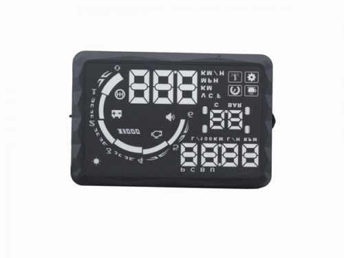 "5.5"" S5 LED OBD-II HUD Head Up Display Over Speeding warning/speed/Km rpm/shift light/temperature"