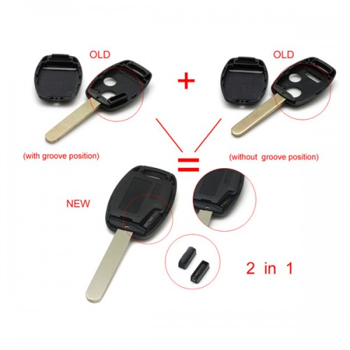 Remote Key Shell 3 Button (without Logo and Paper Sticker) for Honda 5pcs/lot