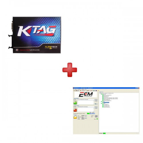 V2.06 KTAG OBD ECU Programming Tool  plus  ECM Titanium V1.61 with 18475 Driver