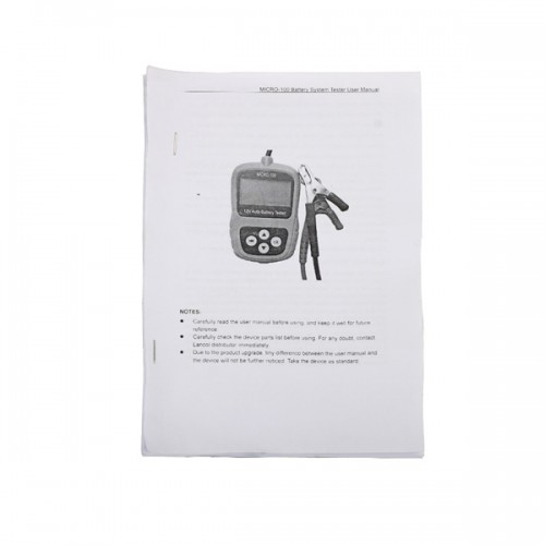 MICRO-100 Digital Battery Tester Battery Conductance & Electrical System Analyzer 30-100AH