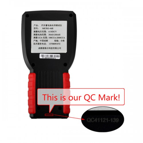 MICRO-468 Battery Tester Battery Conductance & Electrical System Analyzer