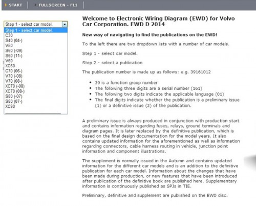 2014 EWD electronic wiring diagram for Volvo