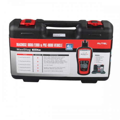 Autel Maxidiag Elite MD703 for 4 system update internet + DS model
