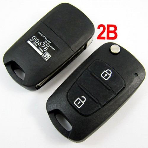 Verna modified flip remote key shell 2 button for Hyundai  5pcs/lot