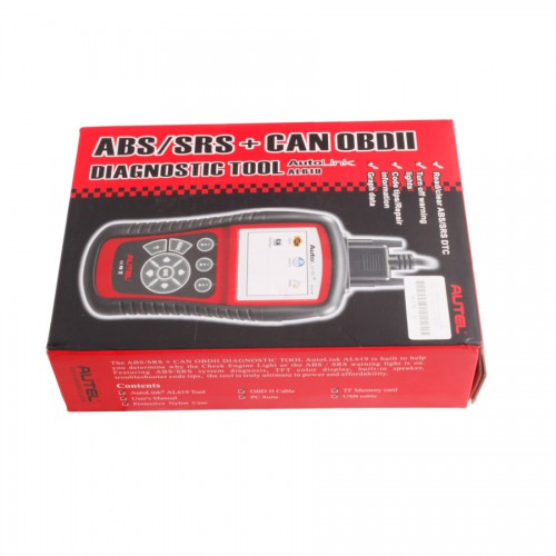 Original Online Update Autel AutoLink AL619EU ABS/SRS OBDII CAN Diagnostic Tool