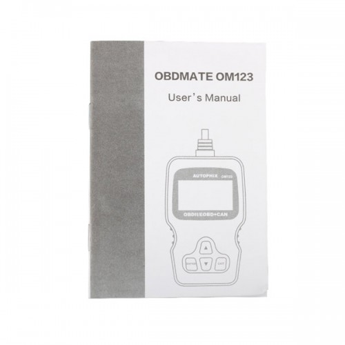 2015 Autophix OM123 OBD2 EOBD CAN Hand-held Engine Code Reader Black