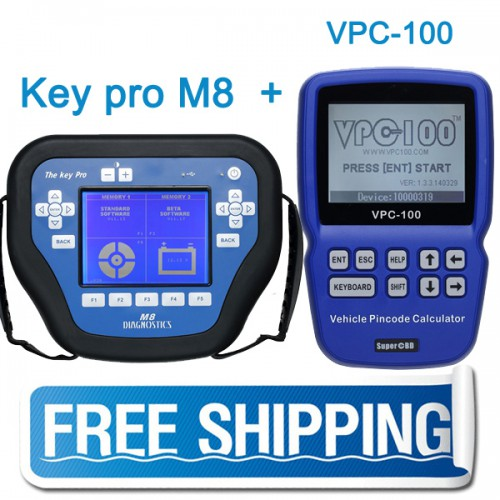 Package offer  Key Pro M8 with 800 Tokens Plus VPC-100 Pin Code Calculator Free DHL Shipping