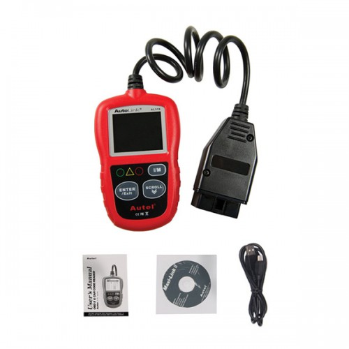 Original Autel AutoLink AL319 OBDII CAN Code Reader Free Update Free Shipping From HK/US/AU