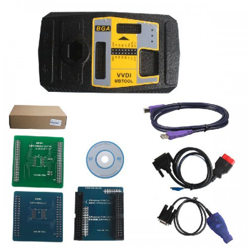 Original Xhorse V4.8.0 VVDI MB BGA TooL Benz Key Programmer Plus NEC Key Adaptor and EIS/ELV Test Line  Free Shipping