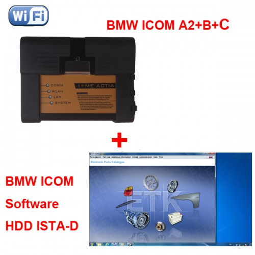 BMW ICOM A2+B+C Diagnostic support wifi plus V2020.8 BMW ICOM Software HDD
