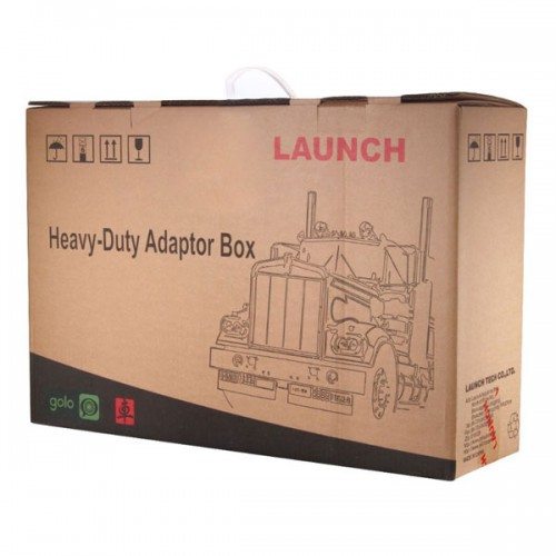 LAUNCH X431 HD Heavy Duty Adapter  X-431 V+/X431 Pad II  Box HD Module Truck Diagnostic Adapter Update Online