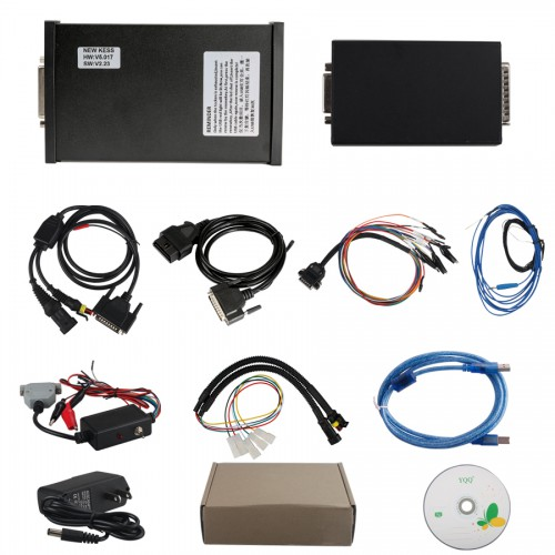 Firmware V5.017 KESS V2 Ksuite V2.47 OBD2 Manager Tuning Kit Auto Car Bike Truck Tractor ECU Tool No Tokens Limitation with 7400 Vehicles added