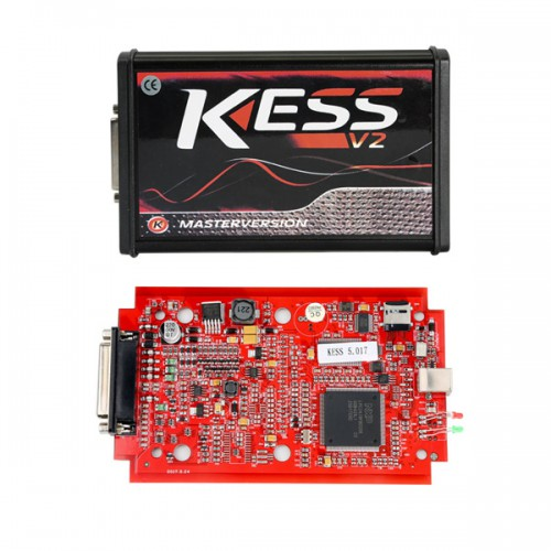 Red PCB! KESS V2 V5.017 Firmware EU online Version No Token Limited Support 140 Protocols