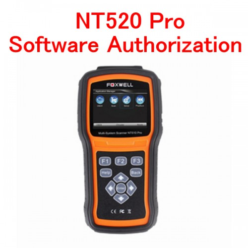 Forxwell NT520 Multi-System Scanner Software Authorization