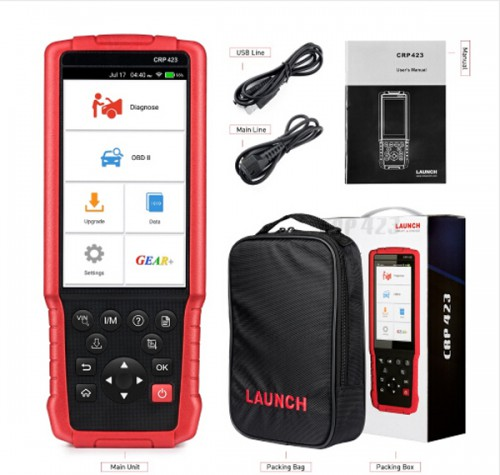 LAUNCH X431 Creader CRP423 Automotive Diagnostic Tool OBD2 Code Reader Scanner Support ENG ABS SRS No IP Limited