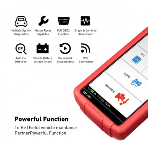 LAUNCH X431 Creader CRP423 Automotive Diagnostic Tool OBD2 Code Reader Scanner Support ENG ABS SRS No IP Limited (Buy SC379-B instead)