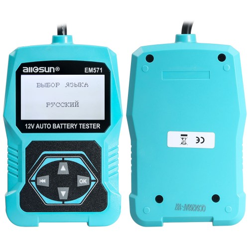 ALL-SUN EM571 12V Automotive 3 in 1  Vehicle Car Battery Tester Check Meter Digital Analyzer Diagnostic