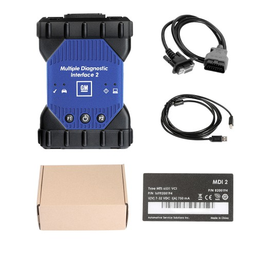 GM MDI 2 Multiple Diagnostic Interface with Wifi Card Support Cars From 1996 To 2019
