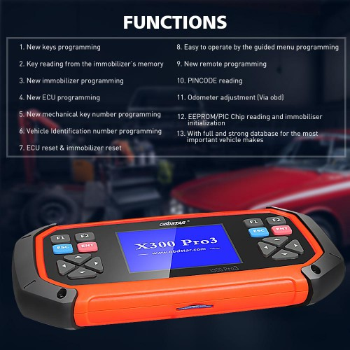 (Ship from US, No Tax) OBDSTAR X300 PRO3 Key Master with OBDII+Toyota G & H  Chip All Keys Lost+Immobiliser + Odometer Adjustment +EEPROM/PIC
