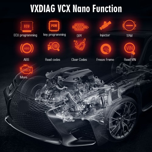 [Ship From US] VXDIAG VCX NANO for Ford IDS Mazda IDS Support Cars Till 2020