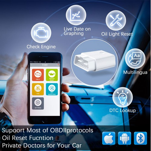 FCAR FVAG Bluetooth Full Function OBD2 Code Reader for Android & IOS Phone