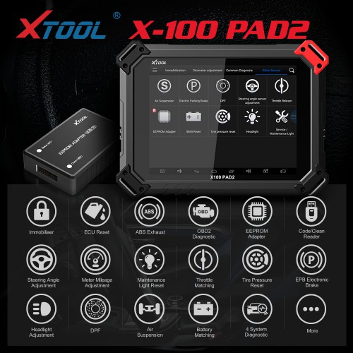 [Ship Form US] XTOOL X-100 PAD2 X100 PADII Key Programmer Multi-Languages Standard Version Special Functions