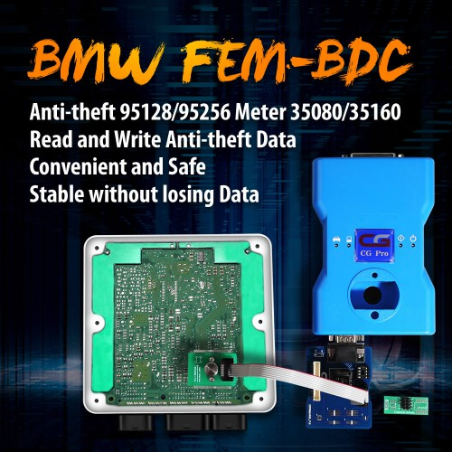 OEM BMW FEM-BDC Anti-theft Data Reading Adapter For 95128/95256 Chip