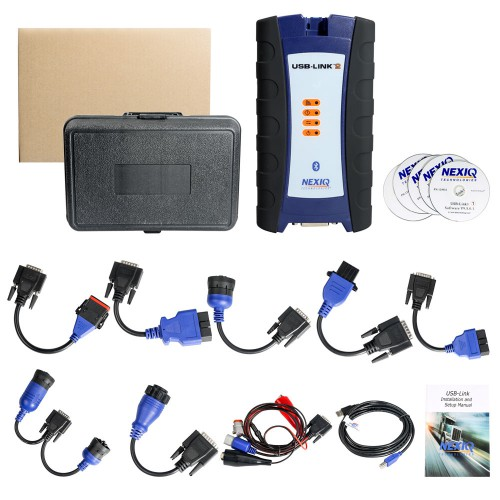 NEXIQ-2 USB Link + Software Diesel Truck Interface and Software with All Installers support Bluetooth