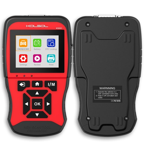 NEW Generation KOLSOL KS501 OBDII & EOBD Scan Tool for Universal Vehicles Scanner