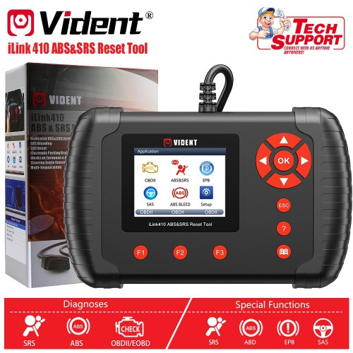 VIDENT iLink410 ABS&SRS&SAS Reset Tool Free Shipping  [ Ship From US, No Tax]