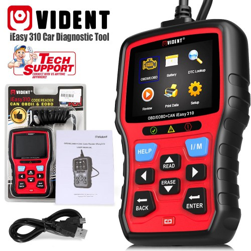 [Ship From US] Vident iEasy310 CAN OBDII/EOBD Code Reader wSupport Multi-language Lifetime Free Upgrade