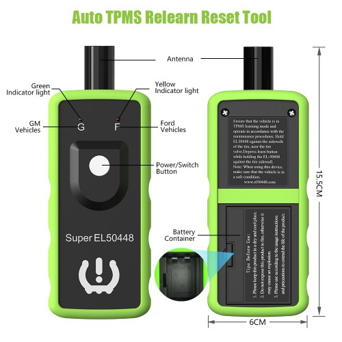 [Ship From US] JDiag FasTPMS Super EL50448 TPMS Relearn tool for GM and Ford