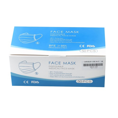 Disposable Medical  Protective Mask 5 Layers Of Meltblown Cloth With CE + FDA Certificate 50pcs/lot