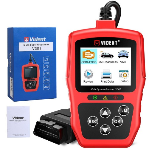[Ship From US] Vident V301 OBD Code Reader OBD2 Diagnostic Tool for VW Audi Skoda Seat