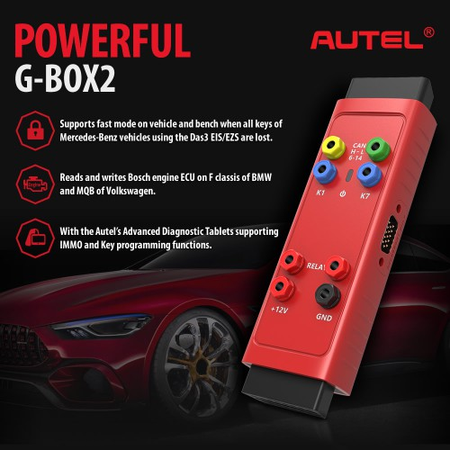 [Ship from US] AUTEL G-BOX2 Key Programming Adapter for Mercedes Benz All Keys Lost Work with Autel MaxiIM IM608