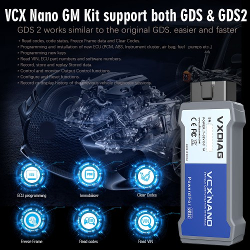 [Ship From US] Latest VXDIAG VCX NANO for GM OPEL GDS2 Diagnostic Tool