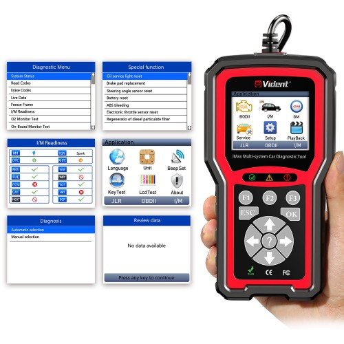 VIDENT iMax4304 GM Full System Car Diagnostic Tool for Chevrolet, Buick, Cadillac, Oldsmobile, Pontiac and GMC With 7 Special Functions
