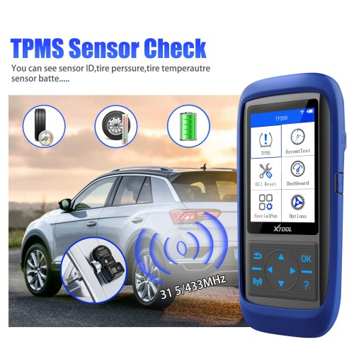 XTOOL TP150 Tire Pressure Monitoring System OBD2 TPMS Diagnostic Scanner Tool Read Tire Pressure Data In Real Time