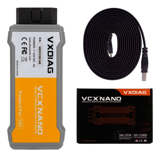 [Ship From US] VXDIAG VCX NANO For Volvo Auto Diagnostic Tool Same Function as Volvo VIDA Dice 2014D Scanner